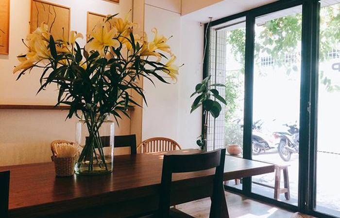 Không gian bên trong Cafe Nấp