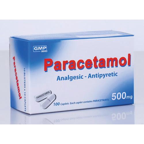 Một loại thuốc giảm đau chứa thành phần Paracetamol