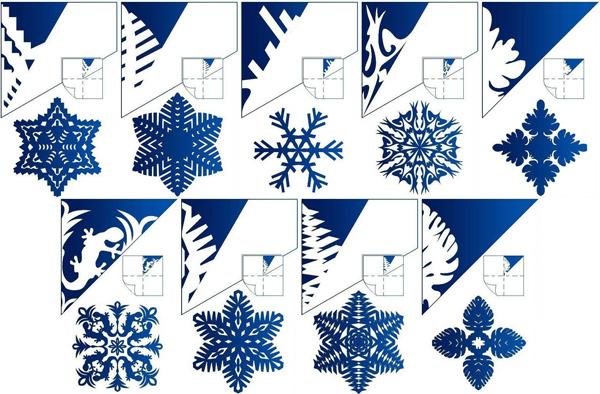 Hướng dẫn cách cắt hình bông tuyết 2