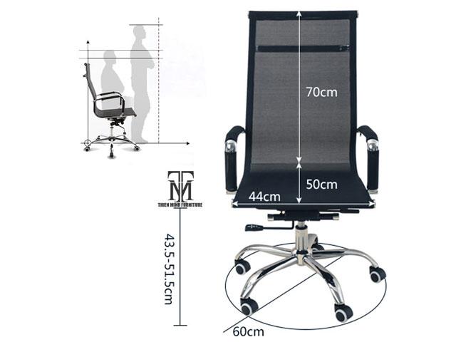 kích thước ghế văn phòng phổ biến