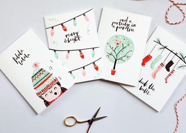 Thiệp Noel trang trí handmade 3