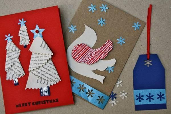 Thiệp Noel trang trí handmade