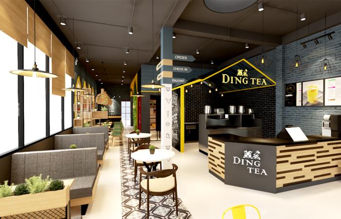 Trà sữa Ding tea với không gian đẹp, giá thành bình dân