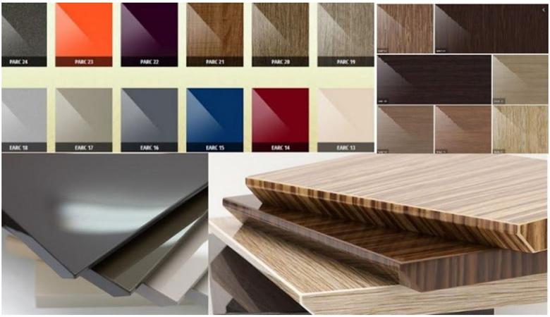 Acrylic là vật liệu gồm cốt gỗ và lớp phủ nhựa Mica