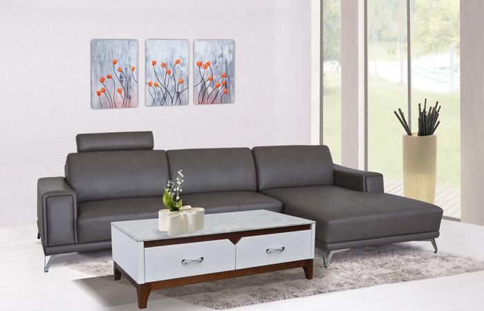 Sang trọng, đẳng cấp và bền bỉ là những ưu điểm nổi bật của sofa da Hòa Phát