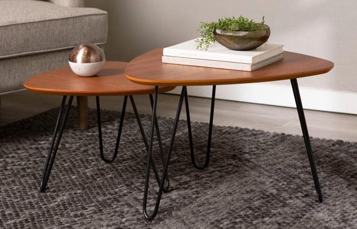 Bàn sofa 3 cạnh thiết kế đẹp dễ dàng sắp đặt và phù hợp với nhiều không gian