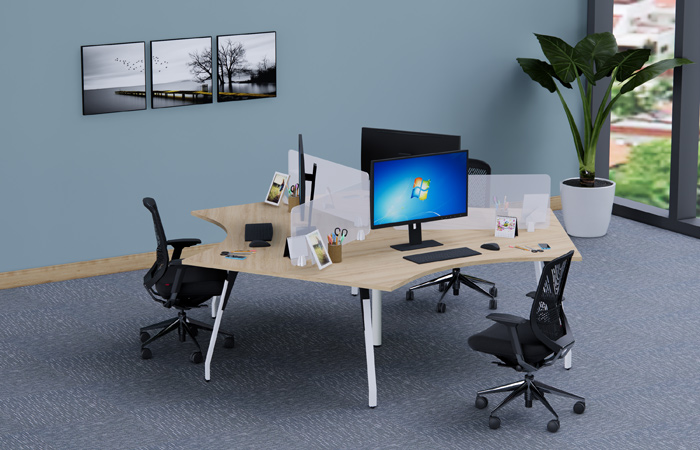 Những ưu điểm của mẫu bàn tam giác mang lại là không thể phũ nhận - Bàn cụm văn phòng ROF MD03C24