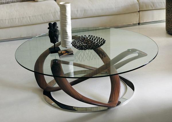 Bàn trà gỗ mặt cường lực nghệ thuật 2