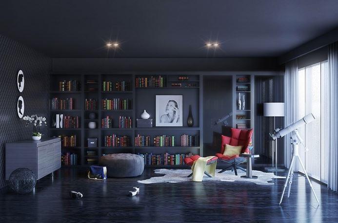 Thiết kế phòng đọc sách đẹp cuốn hút