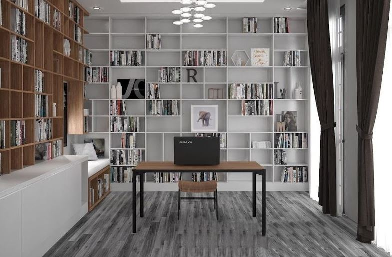Góc đọc sách trong phòng ngủ