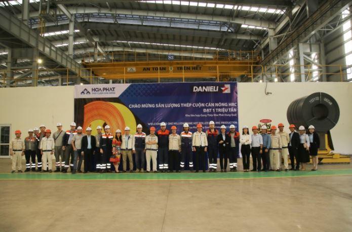 sản lượng thép hòa phát đạt 1 triệu tấn