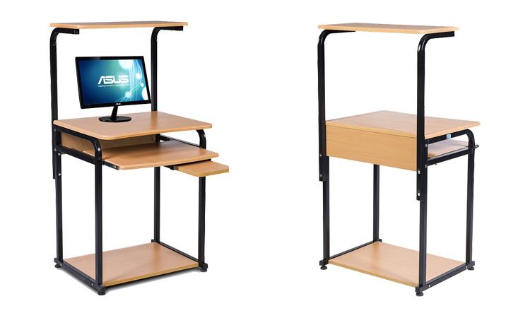 Lưu ý đến giá thành của sản phẩm - Mẫu bàn máy tính khung sắt nhỏ gọn BMT05