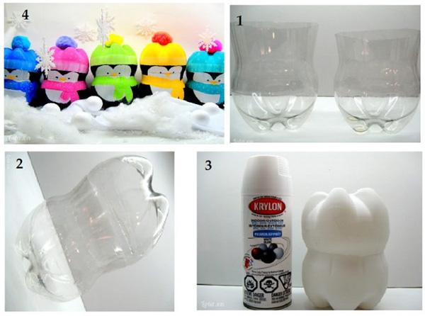 Thú đồ chơi làm từ chai nhựa tái chế