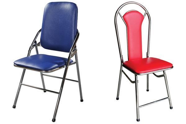 Mẫu ghế gấp tựa lưng cao inox Hòa Phát