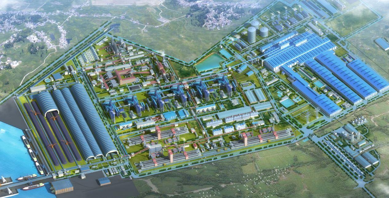 Hệ thống cảng tại Khu liên hợp sản xuất Gang thép Hòa Phát Dung Quất Quảng Ngãi.