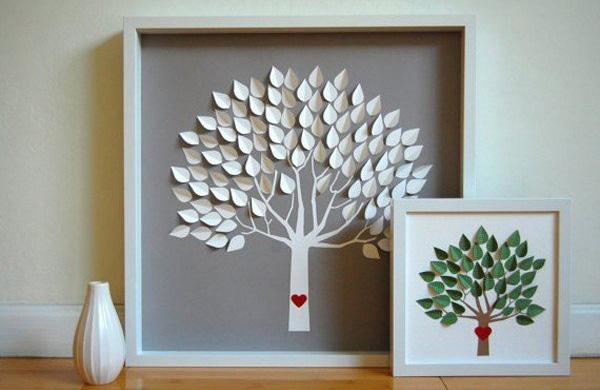 Tác phẩm tranh từ giấy đẹp thanh lịch