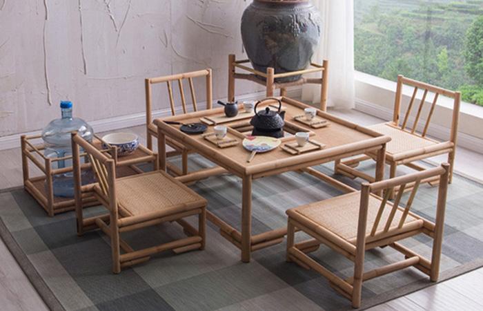 Bàn phòng khách bằng tre phong cách Nhật 1