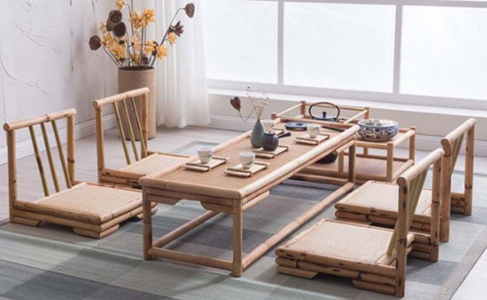 Bàn phòng khách bằng tre phong cách Nhật 2