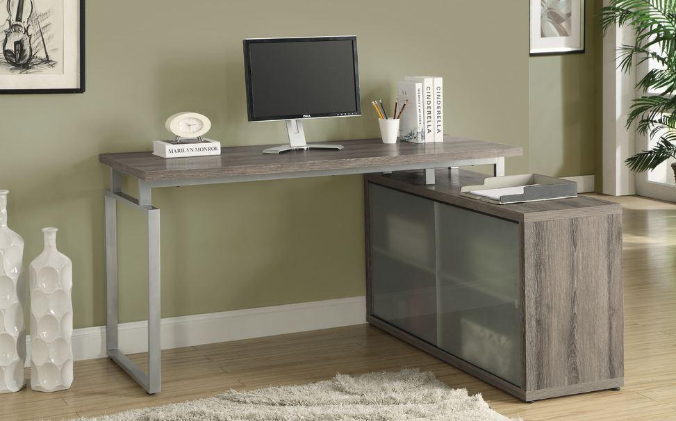 Kiểu dáng khung bàn gác chân tủ này rất được ưu chuộng trong nội thất văn phòng