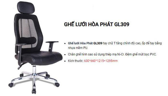 Ghế tựa đầu lưng cao GL309