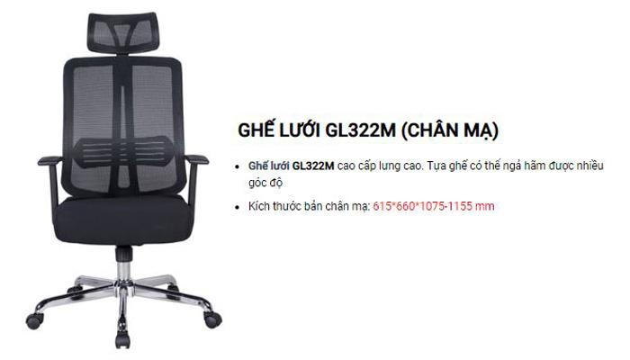 Ghế ngồi làm việc GL322