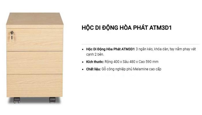 Sản phẩm hộc tủ phụ giúp không gian làm việc của bạn trông gọn gàng hơn - TủATM3D1