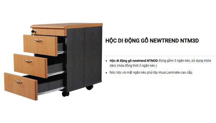 Với khoang chứa đồng rộng nhũng mẫu hộc tủ có thể lưu trữ nhiều hơn so với các tủ treo bàn làm việc - TủNTM3D