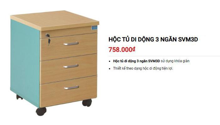 Gỗ công nghiệp trong các sản phẩm hộc tủ phụ có độ bền cao, chống mối mọt tốt hơn gỗ tự nhiên - Tủ SVM3D