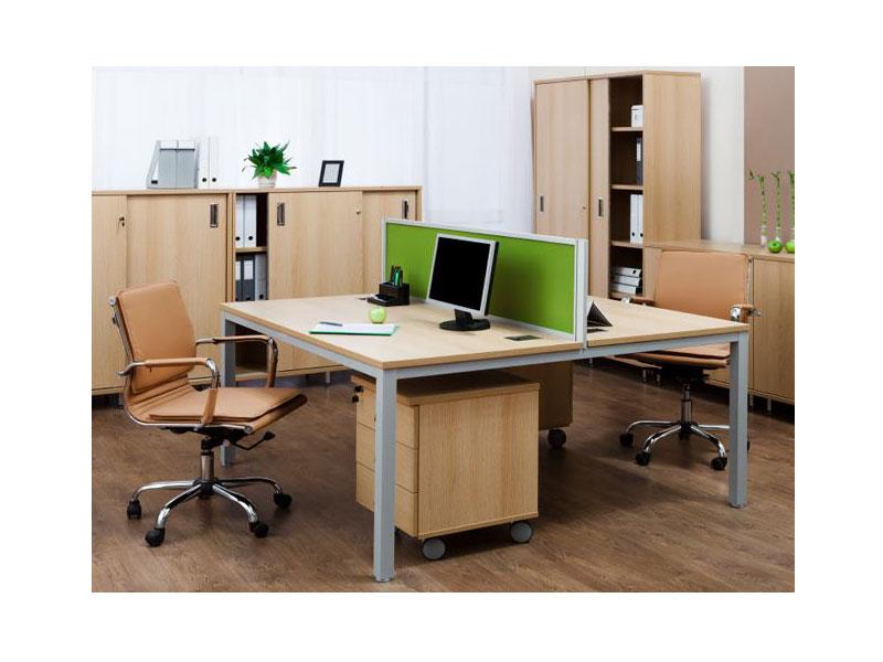 Bàn làm việc văn phòng 2 người MD02-HP4