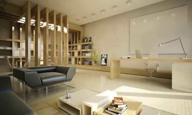 Chọn vị trí đặt sofa tiếp khách trong văn phòng lãnh đạo