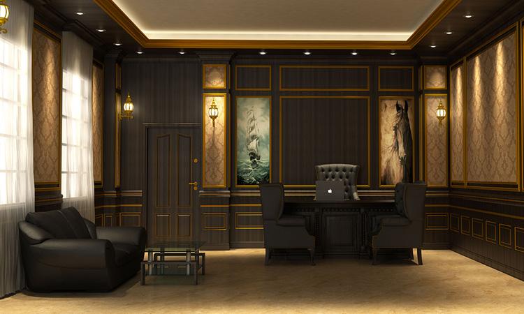 Mẫu trang trí nội thất phòng giám đốc phong cách cổ điển