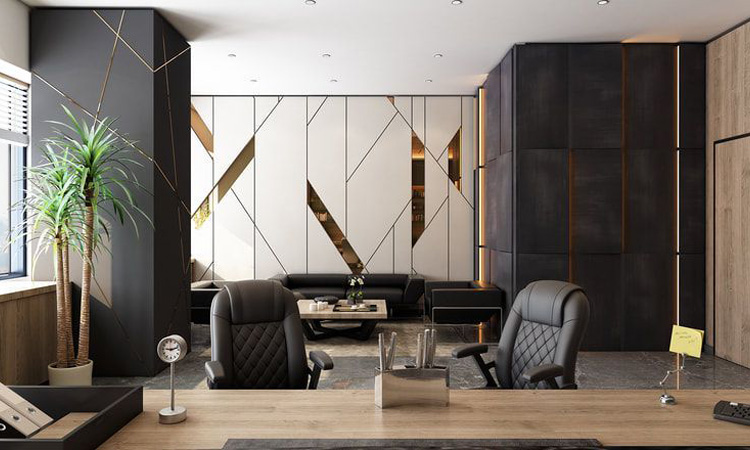 Mẫu trang trí nội thất phòng giám đốc phong cách hiện đại