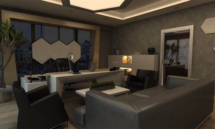 Mẫu trang trí nội thất phòng giám đốc cao cấp